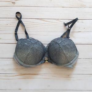 LA SENZA 32B Grey Gradient Lace Bra Strapped
